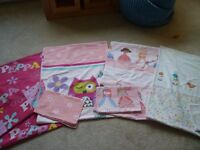 Girls cot bed duvet covers £4 each