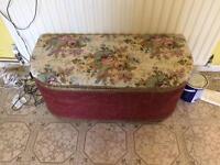 Lloyd loom blanket box ottoman chest