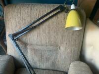 RARE: Vintage Herbert Terry wall mounted anglepoise - industrial lamp 1208
