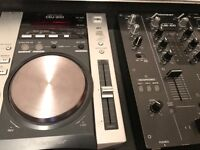 Pioneer CDJ200 decks and DJM-400 mixer in flight case