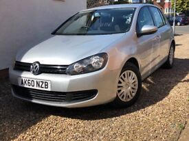 2010 VOLKSWAGEN GOLF 1.6 TDI S DIESEL + £30 ROAD TAX FOR A FULL YEAR + FULL SERVICE HISTORY