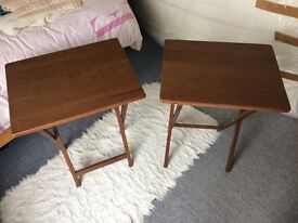 2x Foldaway TV/coffee tables