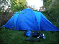 LARGE 6 PERSON ADVENTURE RIDGE TENT USED ONCE IMMACULATE CONDITION 3 SEPERATE BEDROOMS