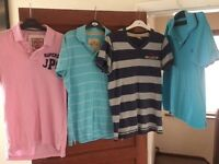 Bundle/Lot of Clothing- Polo Tops: Hollister, Superdry, Fred Perry