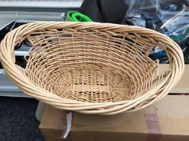 Wicker laundry / storage basket