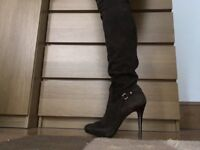 Guess by Marciano New leather over the knee high heels boots