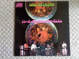 IRON BUTTERLY LP 1968 IN-A-GADDA-DA-VIDDA ATLANTIC GREEN AND ORANGE
