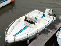 Rio 500 Open Deck Day / Ski Boat with Outboard & Snipe Trailer