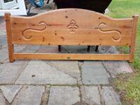 Double pine headboard