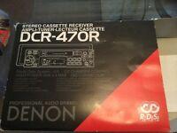 Denon stereo cassette receiver and 12 cd changer