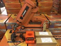 PASLODE IM350 NAILER COMPLETE WITH BATTERIES ETC. TOOL HAS BEEN SERVICED