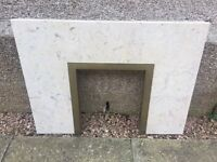 Marble harth and surround