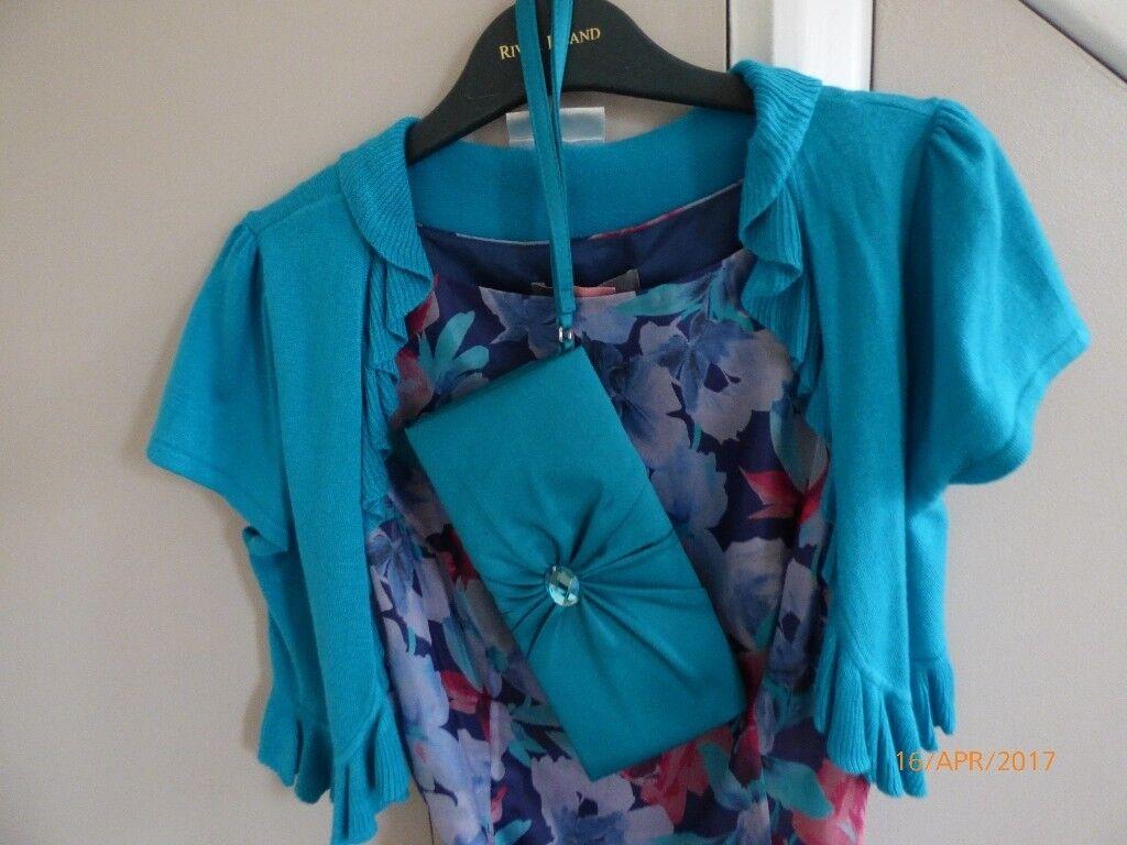 Prom Dress - Floral John Lewis Size 8 plus Wallis Bolero Size S ...