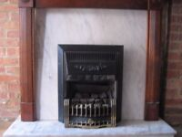 Marble Fireplace Hearth with Gas Fire