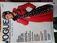 Vogue Pattern, Golden Hands, Burda, Vogue Magazines 1969-1973