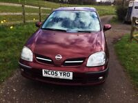 2005 Nissan Almera Tino + scooter Hoist + 38,731 miles - In great condition -REDUCED TO CLEAR