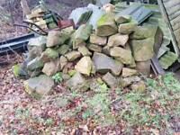 Rockery garden stones sandstone
