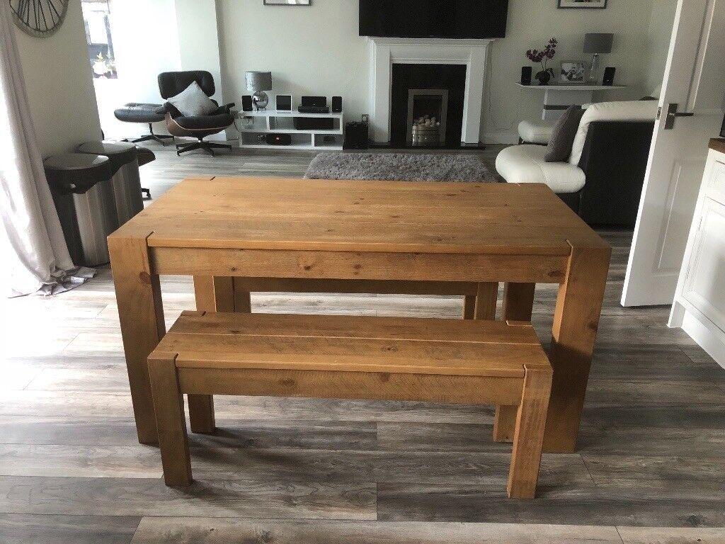 Next Wood Bench Set Kendall Range