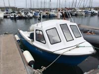 Alaska 500 with Honda 50hp outboard and Bramber trailer. spare prop, service kit, anchor, fenders.