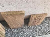 Assorted size unused paving slabs