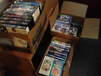 Boxes of VHS