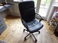 Black Leather Style Adjustable Chair