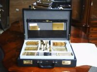 bestecke 24 karat 12 piece canteen of cutlery in leather brief case cost a fortune