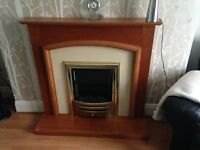 Electric Fireplace surround and hearth