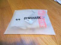Brand New GYMSHARK Flex Leggings Light Grey Marl/Sherbet Pink Size Small