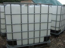 IBC 1000ltr water tank container used clean