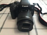 Canon 750D camera with Canon carry bag
