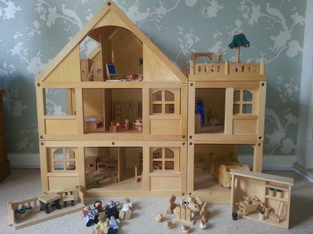 Fantastic Huge Bundle See Pics Elc Wooden Dolls House