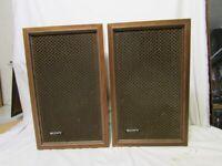 SONY SPEAKER SS-510 vintage 2 way speaker system FROM 1972/3