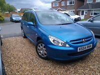 Peugeot 307 sw 2.0 hdi s in blue, low mileage, great condition, bargain !