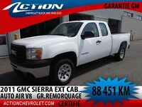2011 GMC SIERRA 1500 2WD EXTENDED CAB AUTO AIR GR. REMORQUAGE