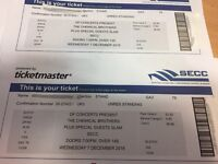 2 x Tickets Chemical Brothers SECC 7 Dec £55 for pair