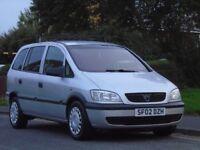 Vauxhall Zafira 1.6 i 16v Club 5dr (a/c) 7 SEATERS,LONG MOT,READY TO GO