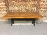 Industrial Adjustable Height Coffee/Dining Table