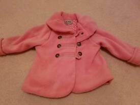 Next girls pink coat 12 to 18 months / jacket / clothes