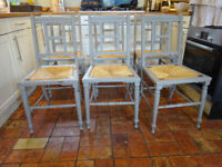6 shabby chic farmhouse kitchen chairs confy rush seats