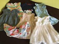 Baby girl clothes bundle 9-12 See images Dresses leggings cardigans top jumper skirts