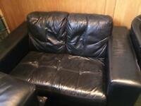 2+3 Seater Faux leather sofas