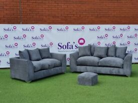 Brand New Dylan Jumbo Cord Fabric Corner Sofa