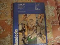 3 Assorted Car Manuals Viva HB Fiat 500 Fiat600