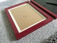Red Gloss picture frame x 3