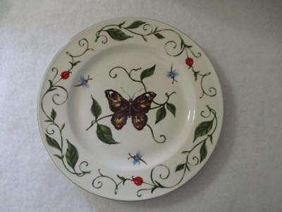 Blue Butterfly Dinner Plate (Tabletops Unlimited Butterfly Dinner Plate White Green Purple Yellow Blue Red )