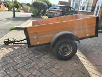 Trailer 4ft x 3ft (122 x 92 cm) Wooden with Tow Bar