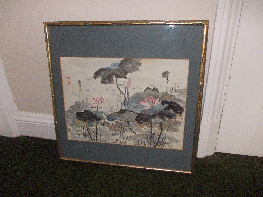 Chinese brush painting by Vera Watts very good condition