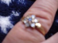 9ct Gold Amethyst Ring size M