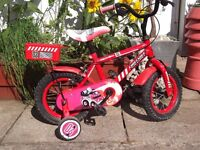 Childs Bike & Stabilizers - Chunky Tyre, Good Working Order.